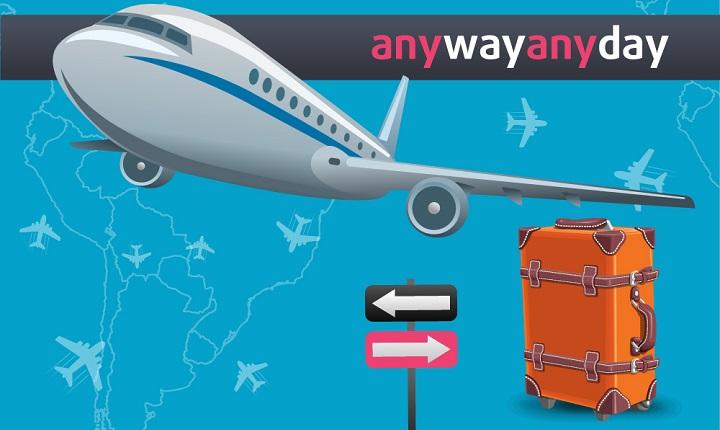 AnyWayAnyDay возвращает кэшбэком до 0,98% от стоимости авиаперелёта