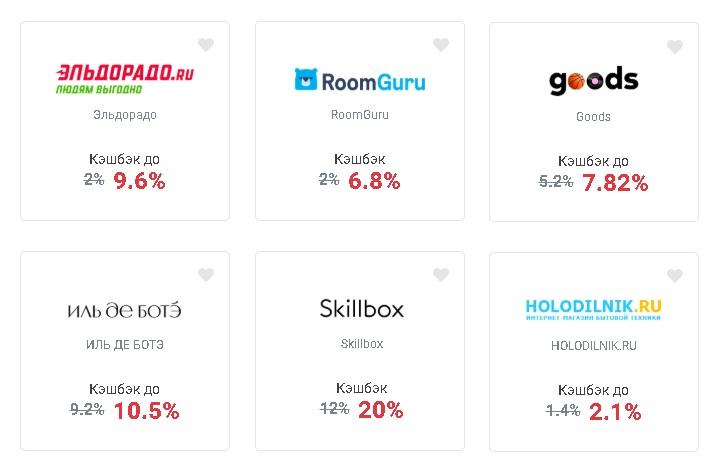 Backit в декабре начисляет повышенный кэшбэк в 6 популярных магазинах — Эльдорадо, goods, Иль Де Ботэ, RoomGuru, Холодильник.ру и Skillbox
